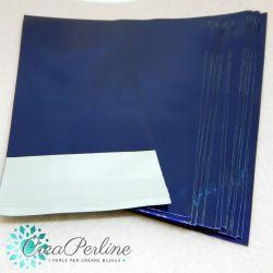 20 Pz Sacchetto regalo cellophane colorato blu autoadesivo 15x7 cm