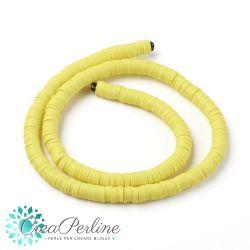 1 filo  Perle in Fimo Heishi Giallo Limone 6mm