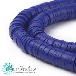 1 filo  Perle in Fimo Heishi Blu 6mm