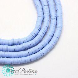 1 filo  Perle in Fimo Heishi Sapphire 6mm