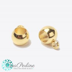 Perla Gancio porta pendente in acciaiotono oro inossidabile 9X5X4mm