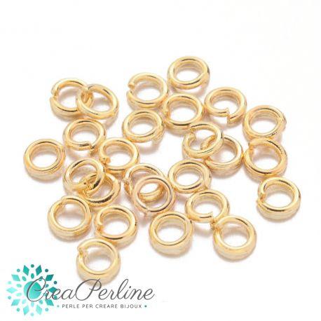 100 Pz Anellini di giunzione dorato apribile 4 mm