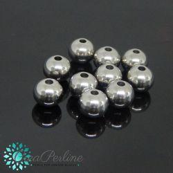 10 pz Sfera in Acciaio inossidabile perlina Ø 8 mm