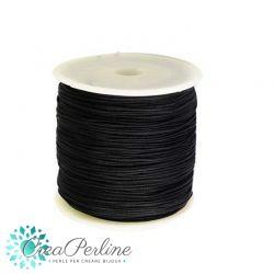10 Mt (1 Matassina) filo di cordino Nero Nylon intrecciato 0,5mm  per bracciali e collane