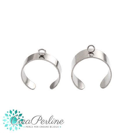 Base per anello Bangle Diametro18mm in acciaio inossidabile