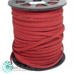 1 Mt piattina alcantara rosso - 5 mm