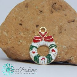 Ciondolo di Natale Campane Rosse 21x16