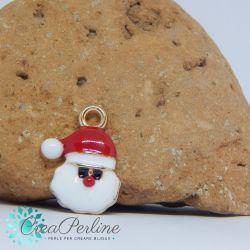 Ciondolo di Natale Viso Babbo Natale 18x12