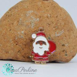 Ciondolo di Natale Babbo Natale Sacco  22x16 mm