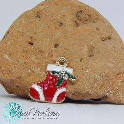 Ciondolo di Natale Albero di Natale Strass 21x10 mm