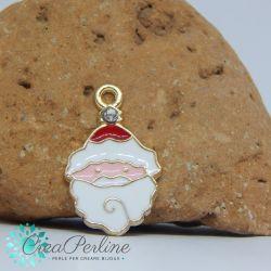 Ciondolo di Natale Babbo Natale Strass 16x10 mm