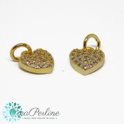 Charms Ciondolo stella con strass zirconi  in ottone tono oro