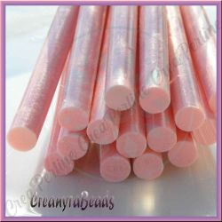 Stick colla a caldo effetto glassa rosa 7 mm (lungo +/- 10 cm)