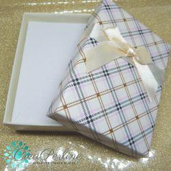 Scatola confezione regalo Scacchi Panna 8,5x6,5x3 cm