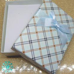 Scatola confezione regalo Scacchi Celeste 8,5x6,5x3 cm