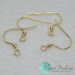 3 Paia Base per orecchini Monachelle ad amo acciaio inox dorato