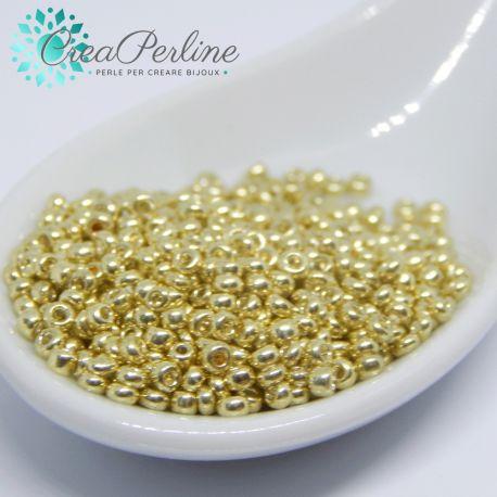 20 Gr  perline di conteria Vetro 2 mm Panna luster