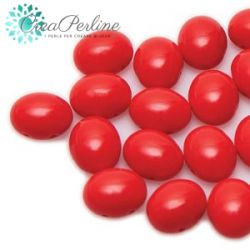 Perline Preciosa Candy Oval 6X8MM RED 10 pezzi
