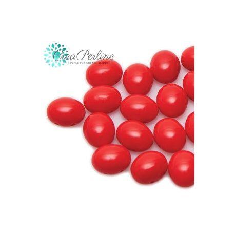 Perline Preciosa Candy Oval 6X8MM RED 10 pezzi