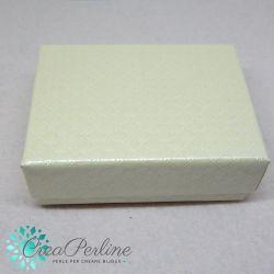 Scatola confezione regalo Panna perlato 9,8X7x3,8cm