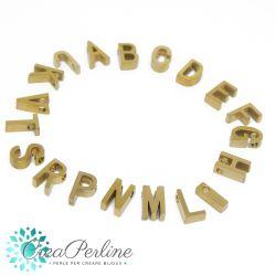 Perla lettera in acciaio tono oro SCEGLI L'INIZIALE