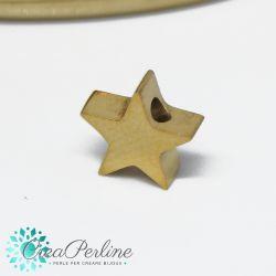 Perla Stella in acciaio tono oro 8mm