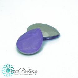 2 Pz Cabochon Gocce in cristallo Mocha Violet 18x13