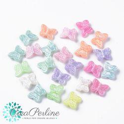 Perle in acrilico Farfalla colore pastello 11x14mm- 50 pz