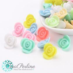 Perle in acrilico Conchiglia colore pastello 13,5x13,5mm- 30 pz