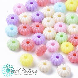 Perle in acrilico colore multicolor pastello 8x6mm - 100 pz