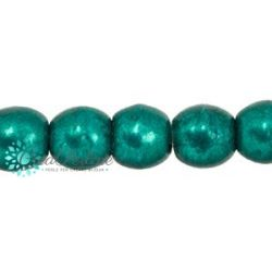 100 Pz Perle in vetro di boemia tonde  Saturated Metallic Forest Biome  3 mm