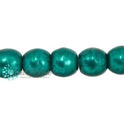 50 Pz Perle in vetro di boemia tonde  Saturated Metallic Forest Biome  4 mm