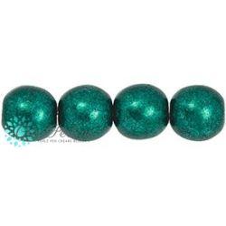 30 Pz Perle in vetro di boemia tonde  Saturated Metallic Forest Biome  6 mm