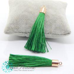 Nappina in  Poliestere 6 cm Colore Verde Smeraldo   / oro