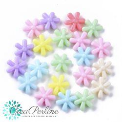50 Fiori Perle in acrilico mix pastello 14,5-13 mm