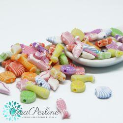 50 pz Perle in acrilico effetto gesso mix color 10-15 mm