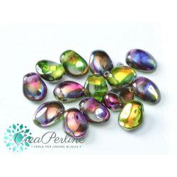 20 pz Tulip Petals 6x8mm in vetro di boemia Crystal Magic Orchid