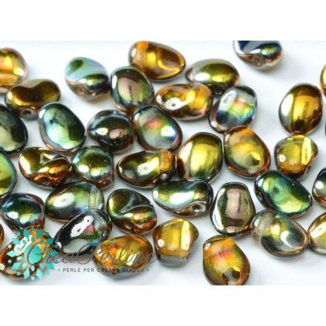 20 pz Tulip Petals 6x8mm in vetro di boemia Crystal Magic Copper