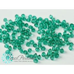 Bicono Preciosa 4 mm Emerald 25 Pezzi