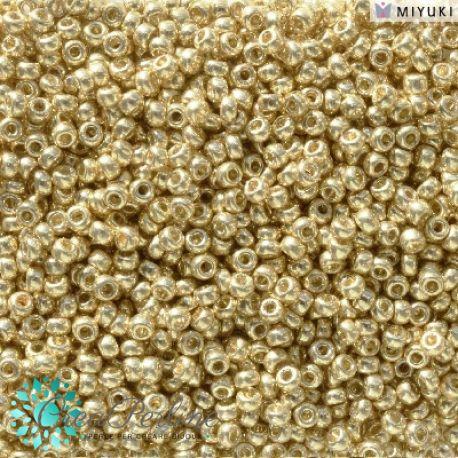 Perline Rocaille Miyuki 11/0 Duracoat Galvanized Pale Gold 4202  (5gr)