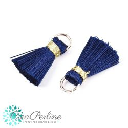 4 pz Nappina in Poliestere 20 mm Navy Blue /oro