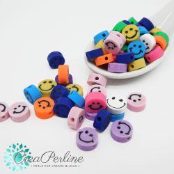 Perle in Pasta polimerica Smile liscio mix color  -20 pz