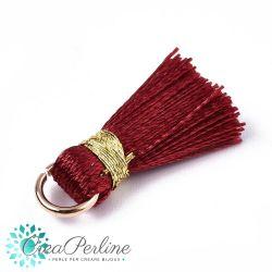 4 Pz Nappina in  Poliestere 20 mm Colore Rosso Bordeaux / oro