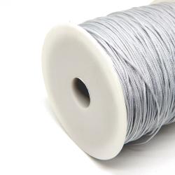 10 Mt (1 Matassina) filo di cordino Argento grigio perla Nylon intrecciato 1mm  per bracciali e collane