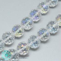 5 Pz Sfera in Vetro k9 mezzo cristallo tonda sfaccettatacrystal ab 14mm