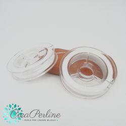 1 Filo elastico piatto 0.8 mm bianco bobina da +/- 10 mt