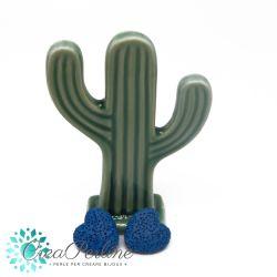 2 Pz perla Cuore in pietra lavica Blu 20mm