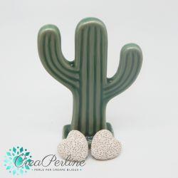 2 Pz perla Cuore in pietra lavica Sabbia 20mm