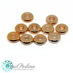 10 Pz Distanziatore cerchio 4 mm in acciaio inossidabile tono oro