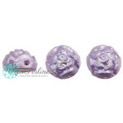 Cabochon Roseta doppio foro 6 mm colore Powdery Lavender 10 pz